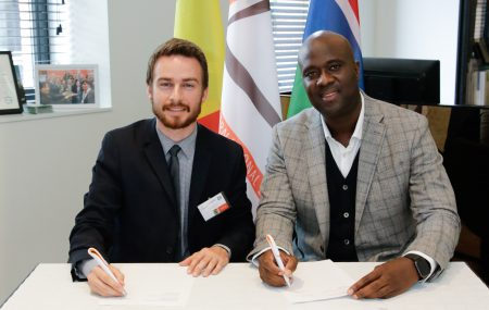 "On Wednesday 13th of June 2019 the Belgium Luxembourg Gambia Chamber of Commerce – BLGCC signed a Memorandum of Understanding with Global Properties (Gambia) Limited at our offices in Antwerp, Belgium during the seminar ""doing business with Gambia and Senegal"" on the area of real estate development, investment facilitation and representation. For more info on the activities of the Chamber please contact us on info@blgcc.eu   Pictures: Signing […]"